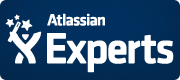 Atlassian Experts badge - dark blue
