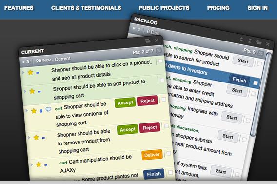 Pivotal Tracker agile tool