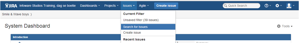 Step1 How to create a dashboard in Jira