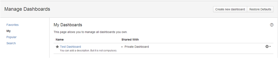 Step10 How to create a dashboard in Jira
