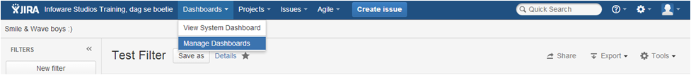Step5 How to create a dashboard in Jira