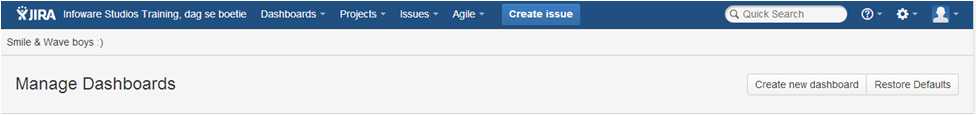 Step6 How to create a dashboard in Jira