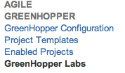 Greenhopper Labs configuration