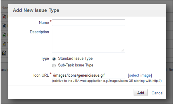 Add new Issue type in JIRA