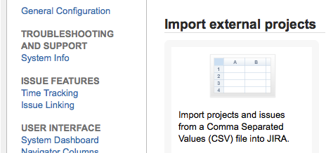 How to import CSV files into JIRA