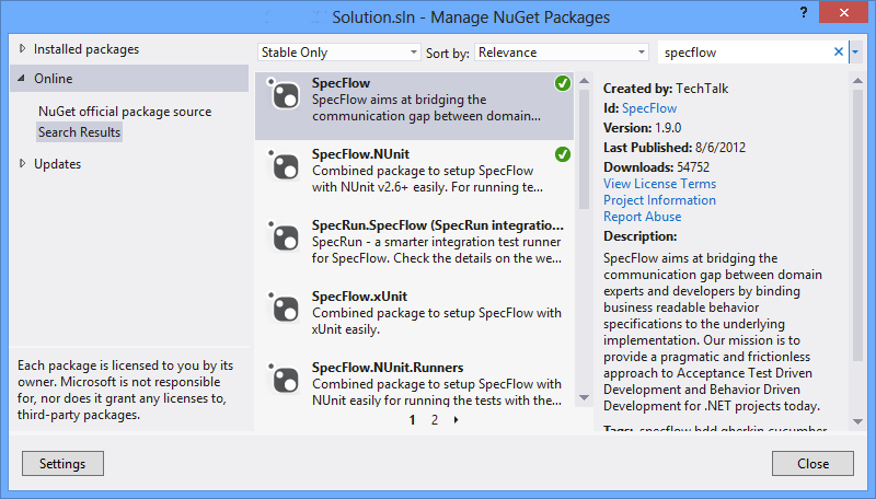 specflow_nuget_dialog