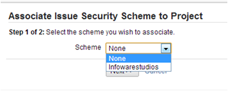 JIRA permissions and security -associate scheme
