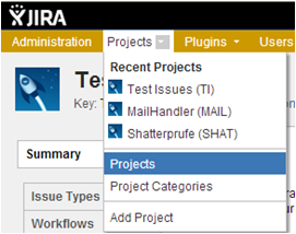 JIRA permissions and security - projects