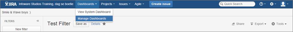 Step5 How to create a dashboard in Jira